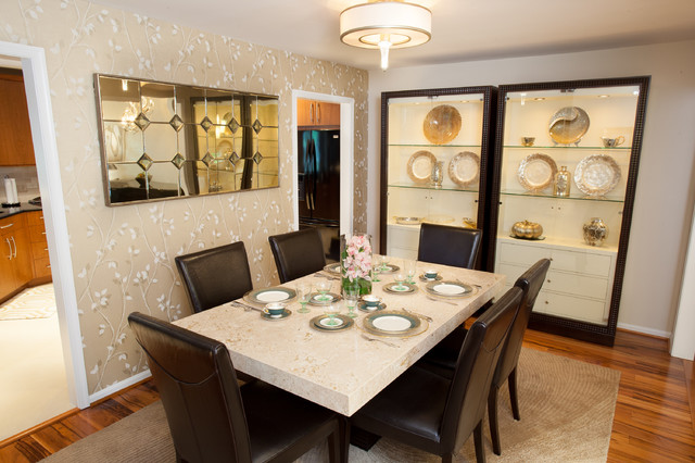 Contemporary Annandale Townhome - Contemporary - Dining Room - DC ...