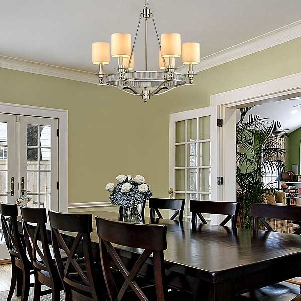 Contemporary chandelier traditional dining room for Decorating contemporary dining room
