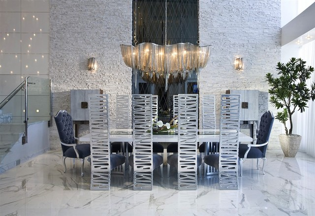 Contemporary condo in miami contemporary dining room miami by heritage luxury builders - Modern luxury dining room ...