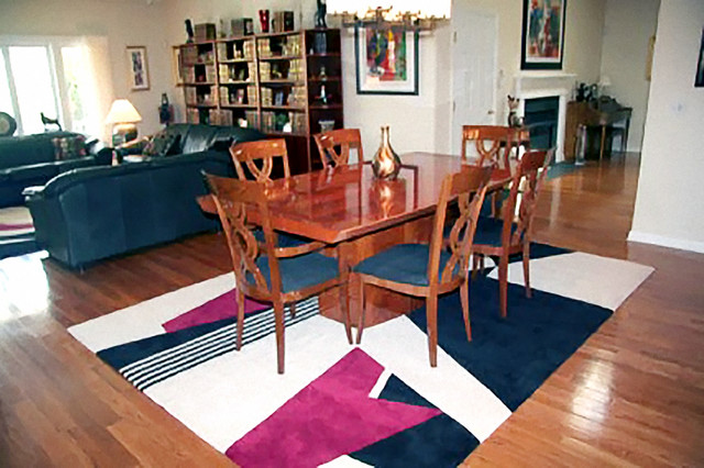 contemporary custom rugs contemporary dining room