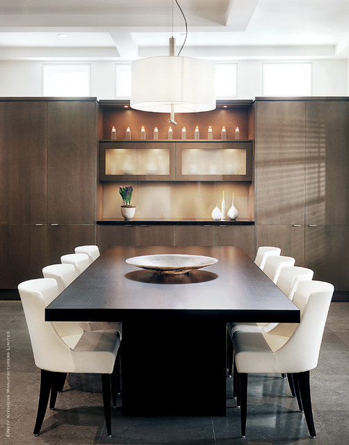 Contemporary Design with High Gloss wood grain modern-dining-room