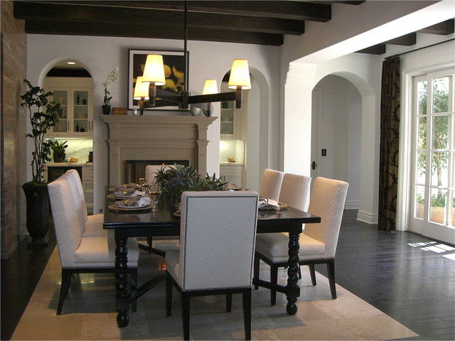 Contemporary Dining Area American Traditional Dining Room
