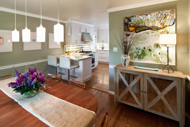 Contemporary Dining Room by Amy Schuermann Interiors