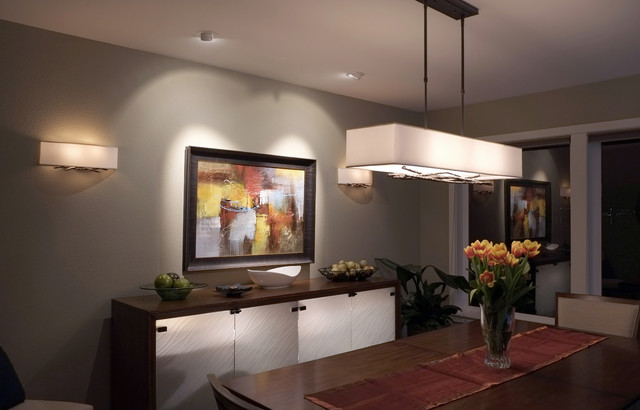 Inspiration for a mid-sized contemporary enclosed dining room remodel in Seattle with beige walls and no fireplace