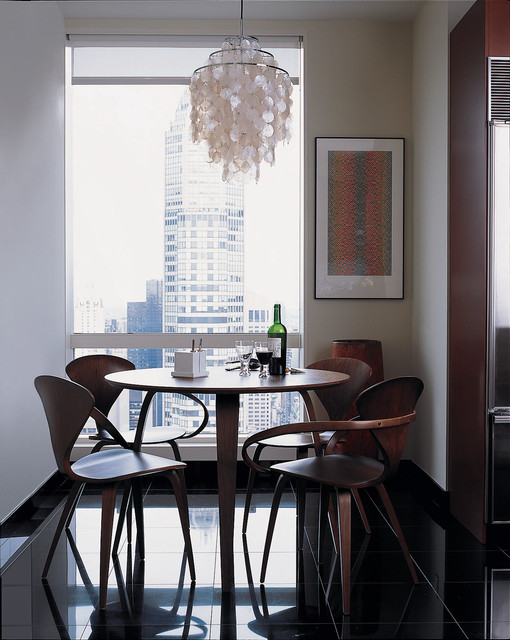 Central Park West Apartment modern dining room