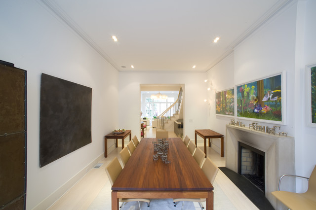 Upper Eastside Townhouse contemporary dining room