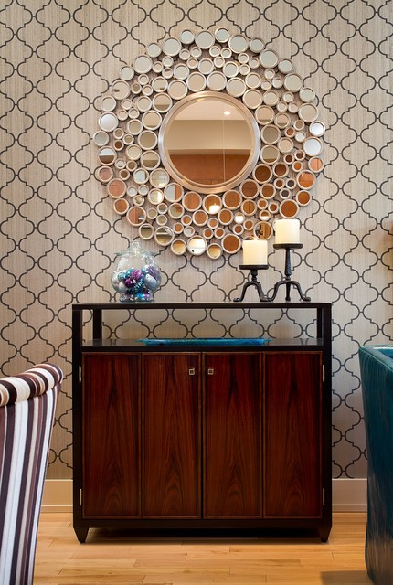eclectic dining room by Katie O'Dwyer