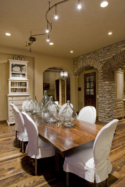Old World Custom Home contemporary dining room