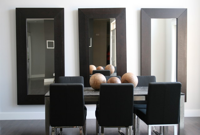 Contemporary dining room for Large dining room mirror