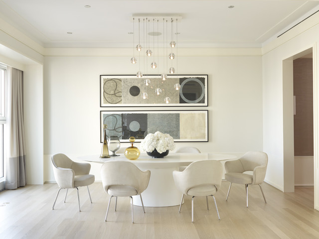 contemporary dining room by Jessica Lagrange