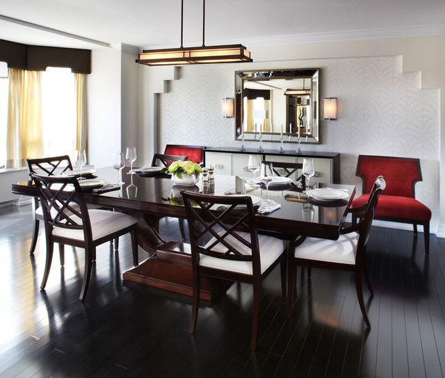 Small Apartments Big Style Contemporary Dining Room