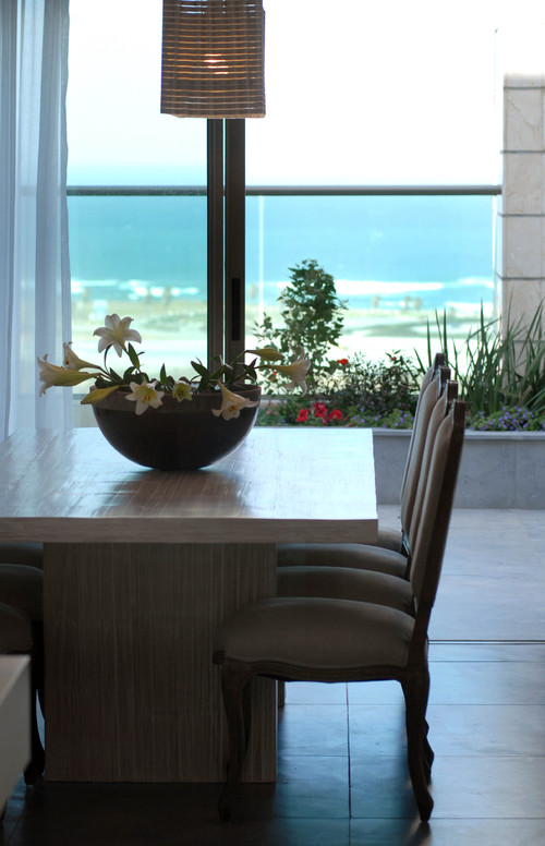 sea view penthouse contemporary dining room
