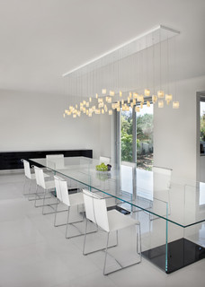 contemporary dining room, orchids chandeliergalilee lighting