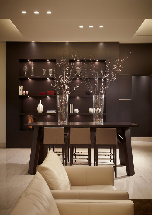 Rectangular recessed lighting for Dining room recessed lighting ideas