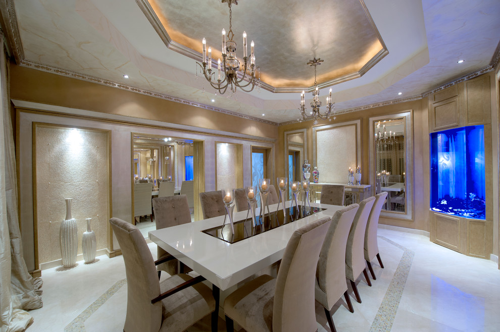 Inspiration for a contemporary dining room remodel in Miami