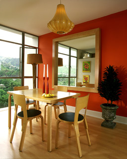 The Shades Of Orange And Gray Used Here Are A Superb Choice, As They Pick  Up On The Orange And Gray Hues Used Elsewhere In The Room.