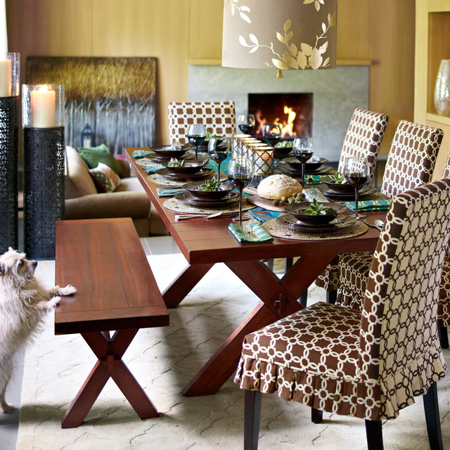 Contemporary Dining Room, Pier One Dining Room Tables