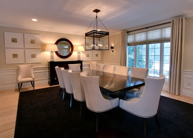 Rachel hazelton interior design contemporary dining for Contemporary formal dining room ideas
