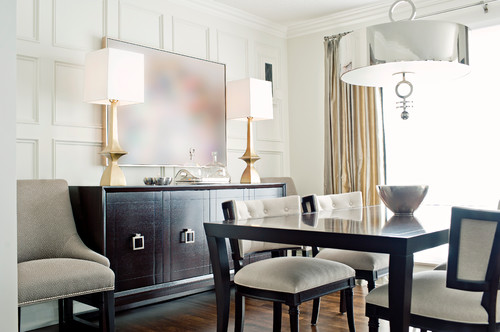 Great Use Of Stylish Contemporary Buffet Lamps Photo Credit Dining Room By Mississauga