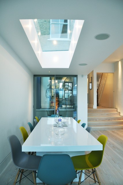 contemporary extension chiswick - contemporary - dining room