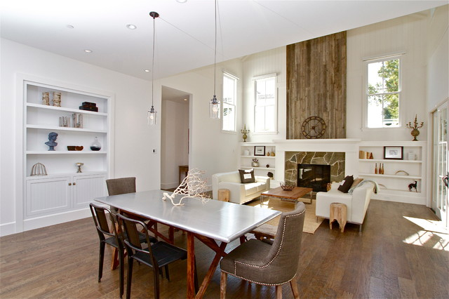 Contemporary Farmhouse eclectic-dining-room