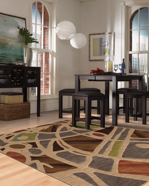 contemporary karastan rug collection contemporary dining room