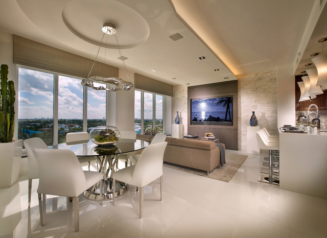 Contemporary Private Residence Palm Beach County Contemporary Dining Room Miami By