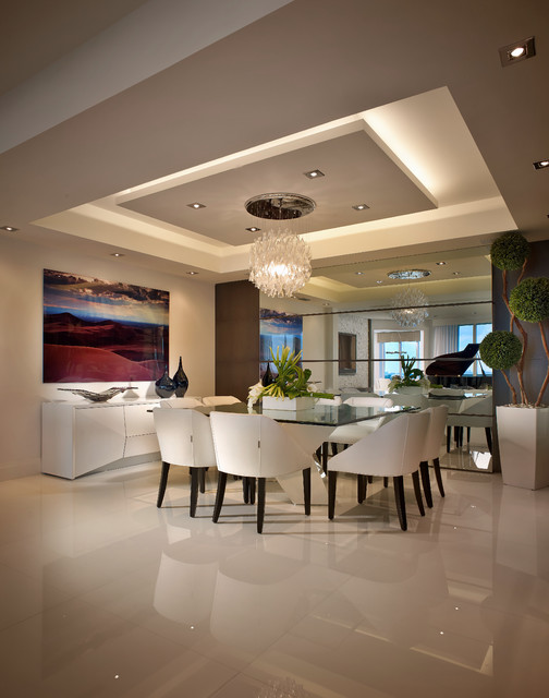 Contemporary Private Residence Palm Beach County Contemporary Dining Room Miami By Interiors By Steven G