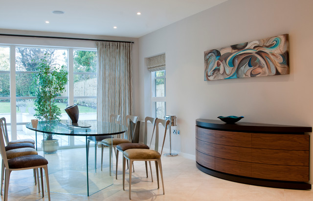 Contemporary property in Cheshire contemporary-dining-room