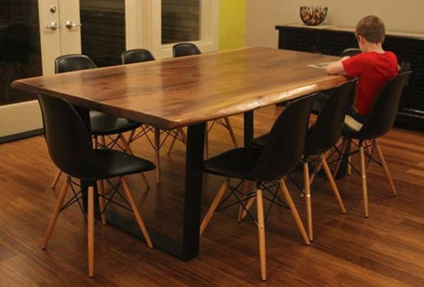 Contemporary Rust Dining Table