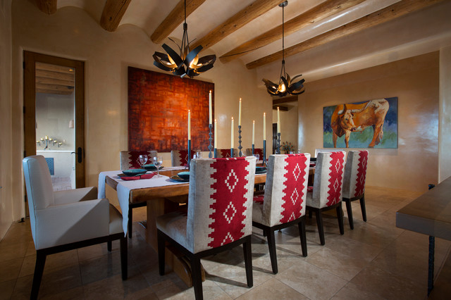 Contemporary Rustic Home In Santa Fe Southwestern Dining Room Albuquerque By Samuel