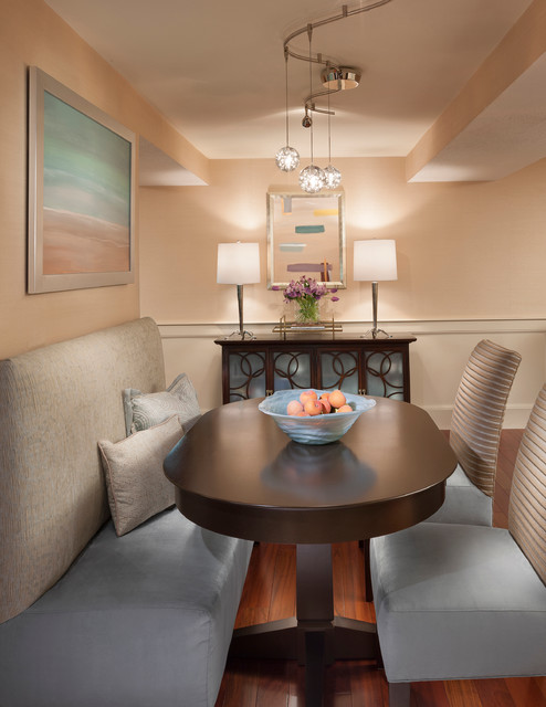 Contemporary townhouse contemporary dining room for Dining room ideas for townhouse