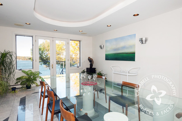 Contemporary Waterfront Newington NH contemporary-dining-room