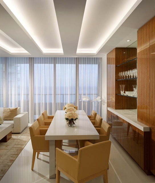 Contemporary Dining Room By Steven Volpe Design By: Contemporary With Phenomenal Art