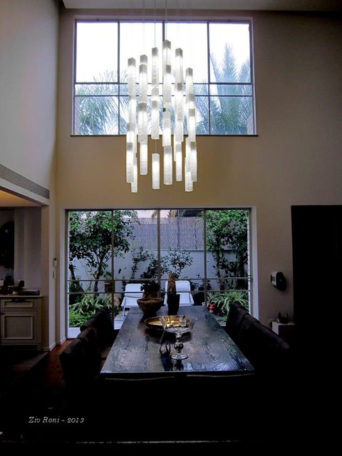 White candles modern ceiling light by galilee lighting modern dining room other metro - Modern pendant lighting for dining room ...