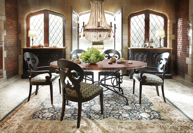 Copper Dining Table - Traditional - Dining Room - Cleveland - by Arhaus