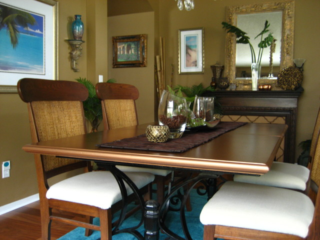 Copper table makeover contemporary-dining-room