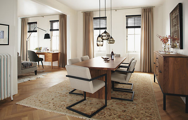Corbett Table with Lira Chairs by R&B modern-dining-room
