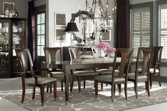 Cosmopolitan Rectangular Dining Table by Bassett Furniture  : traditional dining room from www.houzz.com size 640 x 426 jpeg 120kB