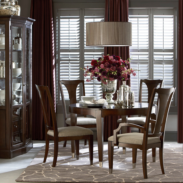 Cosmopolitan Round Dining Table By Bett Furnituretraditional Room