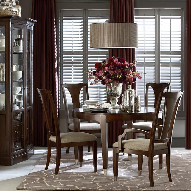 Bassett Tables: Cosmopolitan Round Dining Table By Bassett Furniture