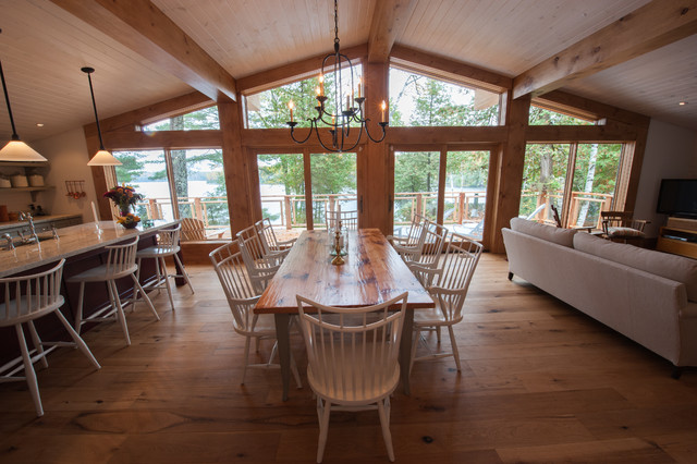 cottage addition rustic dining room pictures