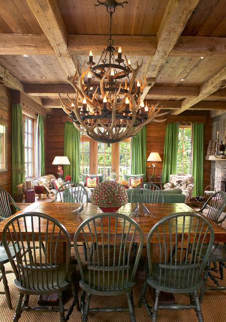 cottage chalet rustic dining room montreal by lbgb la