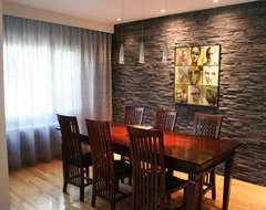 Cottage remodel contemporary dining room