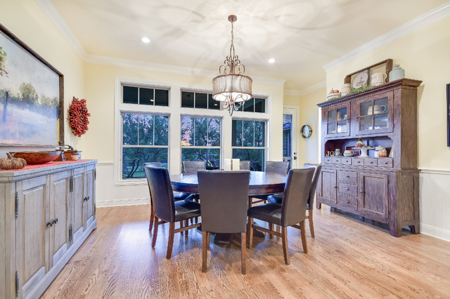 Cottage dining room photo in Austin