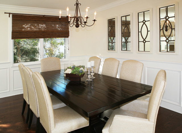 Elegant Country Chic Transitional Dining Room