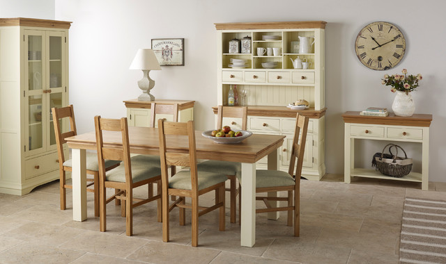 Stupendous Country Cottage Natural Oak Painted Dining Room Country Interior Design Ideas Tzicisoteloinfo