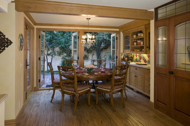Country french dining room robert naik photography for Dining room ideas with french doors