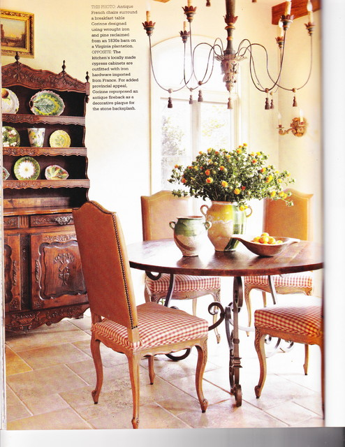Country french magazine traditional dining room for Houzz magazine