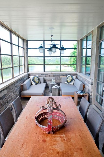 Country Home contemporary-dining-room